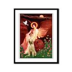 Seated Angel /Italian Spinone Framed Panel Print