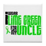 I Wear Lime Green For My Uncle 6 Tile Coaster