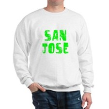 San Jose Faded (Green) Sweatshirt