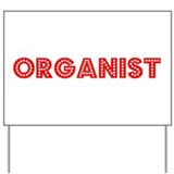 Retro Organist (Red) Yard Sign