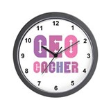 Geocacher Arrows Pink Wall Clock