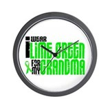 I Wear Lime Green For My Grandma 6 Wall Clock