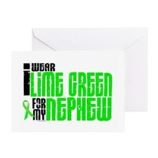 I Wear Lime Green For My Nephew 6 Greeting Card