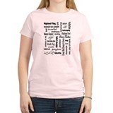 Highland Dancing WORDS T-Shirt