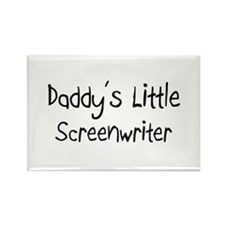 Daddy's Little Screenwriter Rectangle Magnet