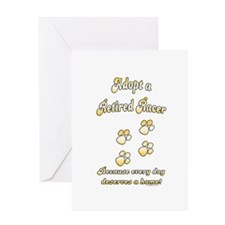 Racer Gold Greeting Card