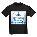 1st Birthday Prince's Great G Kids Dark T-Shirt