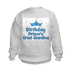 1st Birthday Prince's Great G Kids Sweatshirt