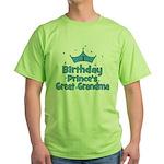 1st Birthday Prince's Great G Green T-Shirt
