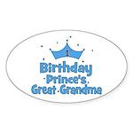 1st Birthday Prince's Great G Oval Sticker