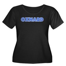 Retro Oxnard (Blue) Women's Plus Size Scoop Neck D