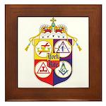 York Rite Masons Framed Tile