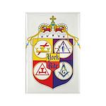 York Rite Crest Rectangle Magnet (100 pack)