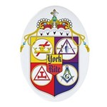 York Rite Crest Oval Ornament