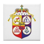 York Rite Crest Tile Coaster