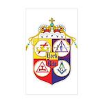 York Rite Crest Rectangle Sticker