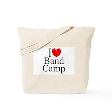 """""""I Love (Heart) Band Camp"""" Tote Bag"""