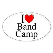 """I Love (Heart) Band Camp"" Oval Decal"