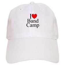 """I Love (Heart) Band Camp"" Baseball Cap"