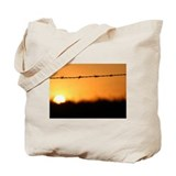 Golden Ripple Sunset Tote Bag