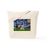Starry / Schnauzer Tote Bag
