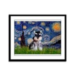 Starry / Schnauzer Framed Panel Print