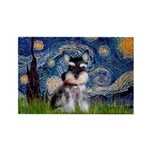 Starry / Schnauzer Rectangle Magnet (10 pack)