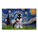 Starry / Schnauzer Sticker (Rectangle 10 pk)