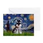 Starry / Schnauzer Greeting Card