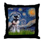 Starry / Schnauzer Throw Pillow