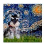 Starry / Schnauzer Tile Coaster