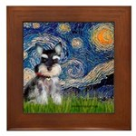 Starry / Schnauzer Framed Tile