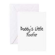 Daddy's Little Roofer Greeting Cards (Pk of 10)