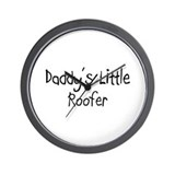 Daddy's Little Roofer Wall Clock