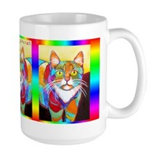 Rainbow Cat Ceramic Mugs