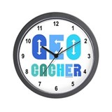 Geocacher Arrows Blue Wall Clock