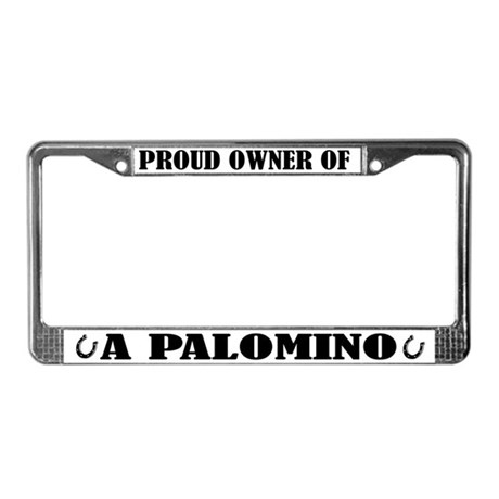 Palomino Horse License Plate Frame
