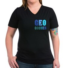 Geocacher Arrows Blue Shirt
