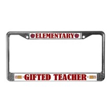 Elementary Gifted Teacher License Plate Frame