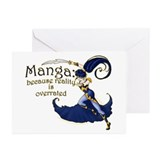 Fun Manga Fan Design Greeting Cards (Pk of 10)