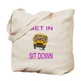 Cute School bus Tote Bag