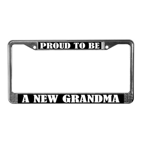 Proud New Grandma License Plate Frame