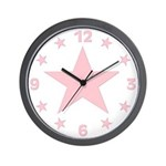 Pink Star Wall Clock