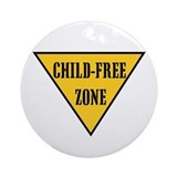 Child-Free Zone Ornament (Round)