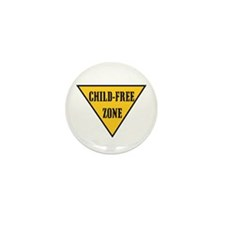 Child-Free Zone Mini Button (100 pack)