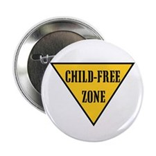 "Child-Free Zone 2.25"" Button (100 pack)"
