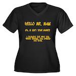 Mr. Main Women's Plus Size V-Neck Dark T-Shirt