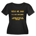 Mr. Main Women's Plus Size Scoop Neck Dark T-Shirt