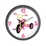 Pink Tricycle Wall Clock