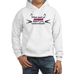 What part of meow? Hooded Sweatshirt